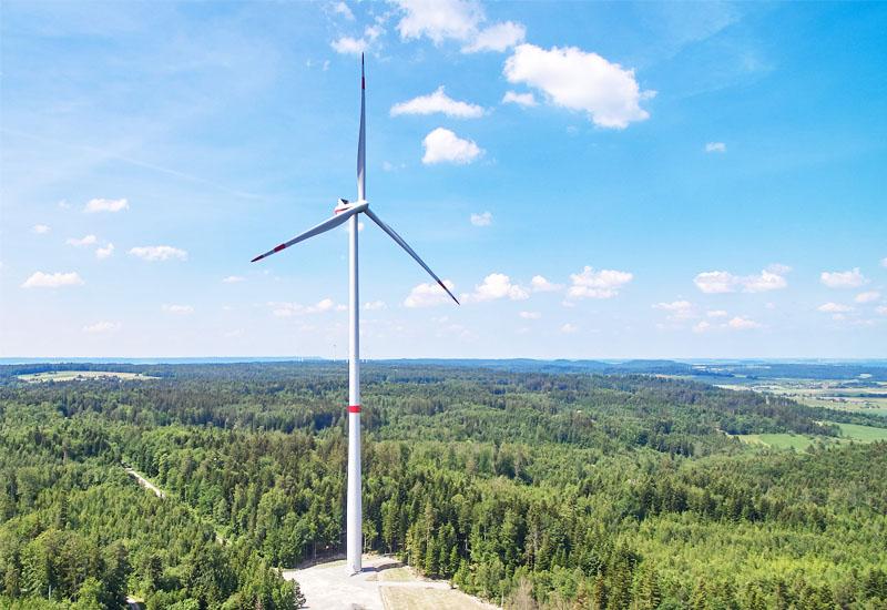 Bau von Windrädern